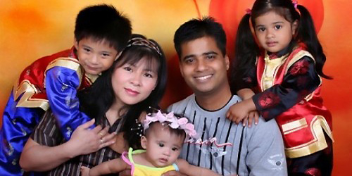 Imran Firasat and his family