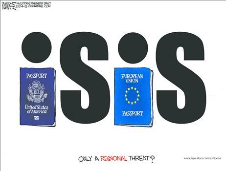 ISIS - only a regional threat? but for US and EU passports!