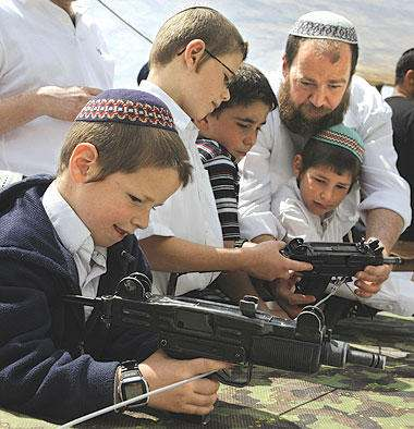 Jewish settler kids learn to protect their nation with guns