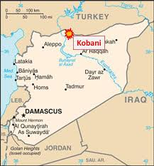 Location of Kobani