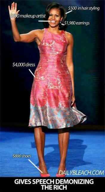 Mooch dresses expensively, gives speech demonizing the rich