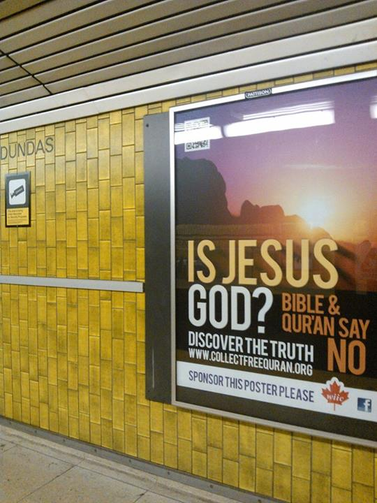 Muslim poster attacking Christianity