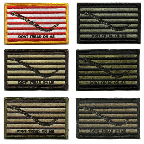 Navy Jack shoulder patches, full-color and subdued