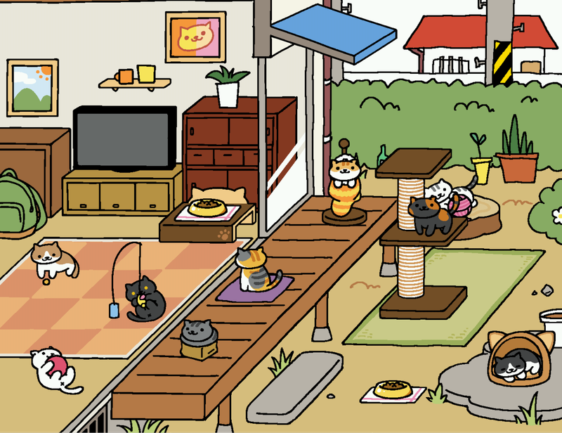Neko Atsume: Lots of cats