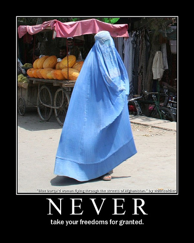 Woman in burqa: NEVER take your freedoms for granted