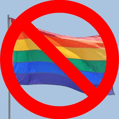 No rainbow flag
