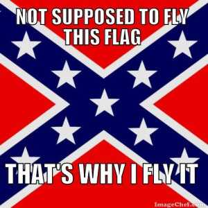 Not supposed to fly this Dixie flag - That's why I fly it!