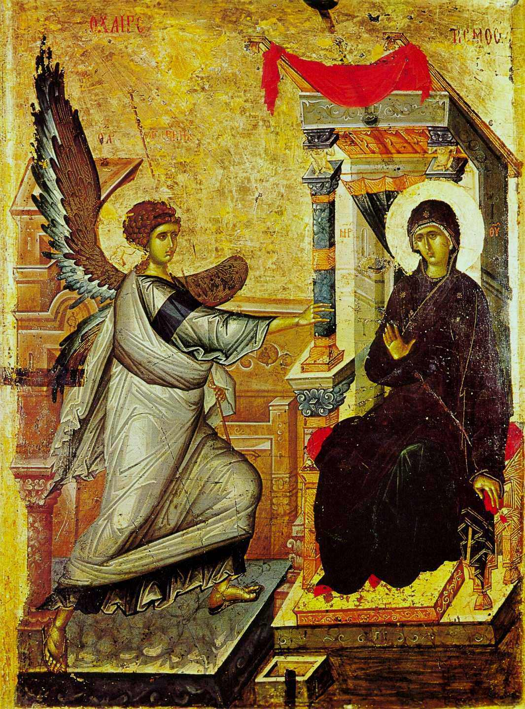 14th century icon of the Annunciation from Ohrid