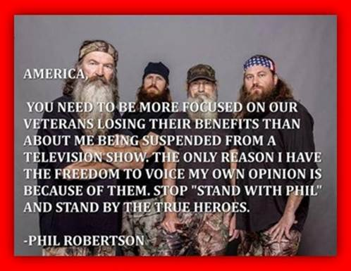 Phil Robertson on US veterans