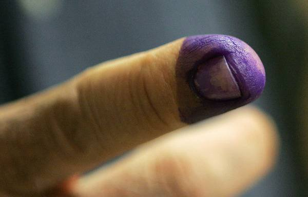 Purple fingers combat vote fraud