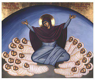 Orthodox Christian icon: Rachel weeping for her children