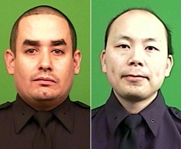 Slain NYPD officers Rafael Ramos and Wenjian Liu