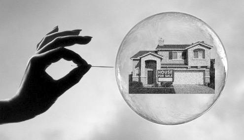 Housing bubble with needle