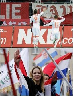Recent Croat Nazi salutes