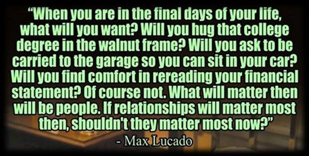 Relationships, by Max Lucado
