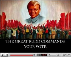Kevin Rudd as Chinese Communist-style tyrant