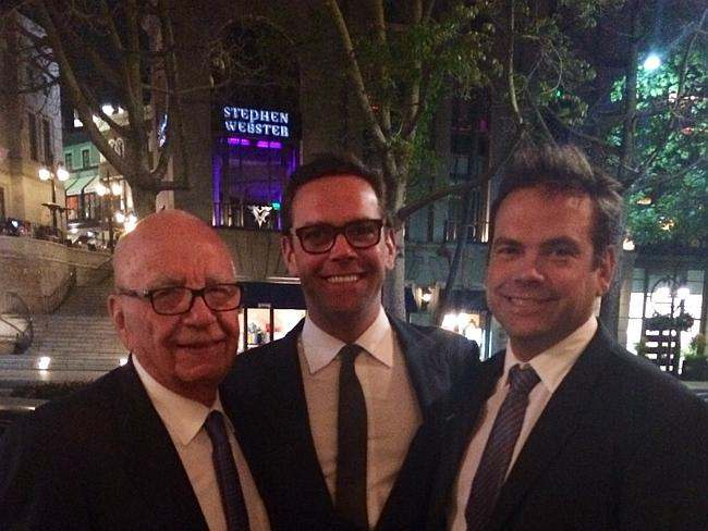 Rupert, James, and Lachlan Murdoch