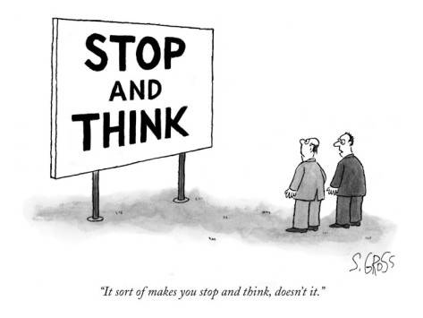 Image gallery critical spirit - Gallery For Gt Stop And Think Cartoon