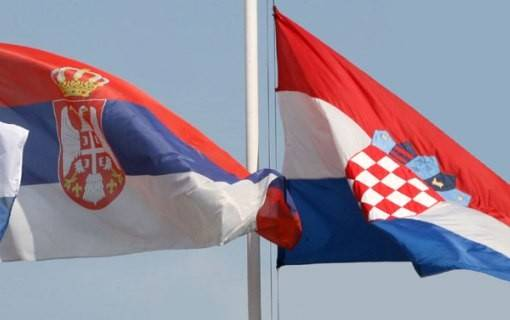 Serb and Croat flags