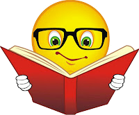 Smiley reading book