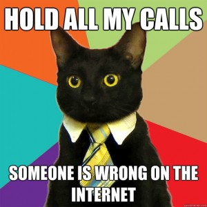 Lolcat: 'Hold all my calls - someone is wrong on the Internet'