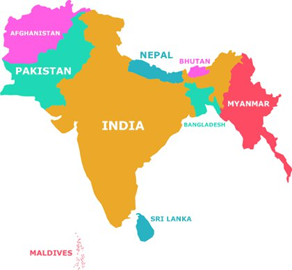 Map: South Asia