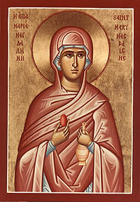 Icon of St. Mary Magdalene with red egg