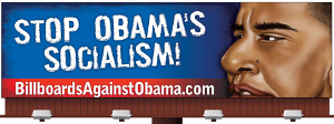 Billboard that says Stop Obama's Socialism