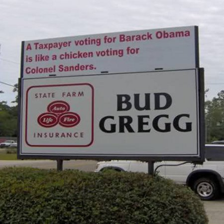 A Taxpayer voting for Barack Obama is like a chicken voting for Colonel Sanders.
