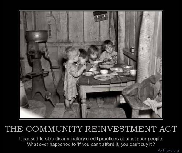 Demotivator: The Community Reinvestment Act