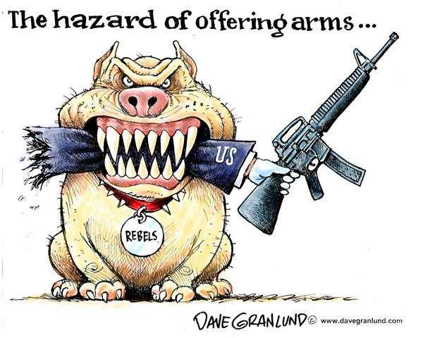 The hazard of offering arms