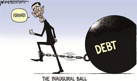 The REAL inaugural ball (and chain): DEBT