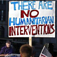 Sign: There are NO humanitarian interventions