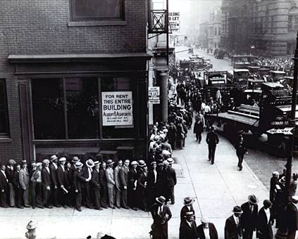 Depression-era unemployment line in NYC