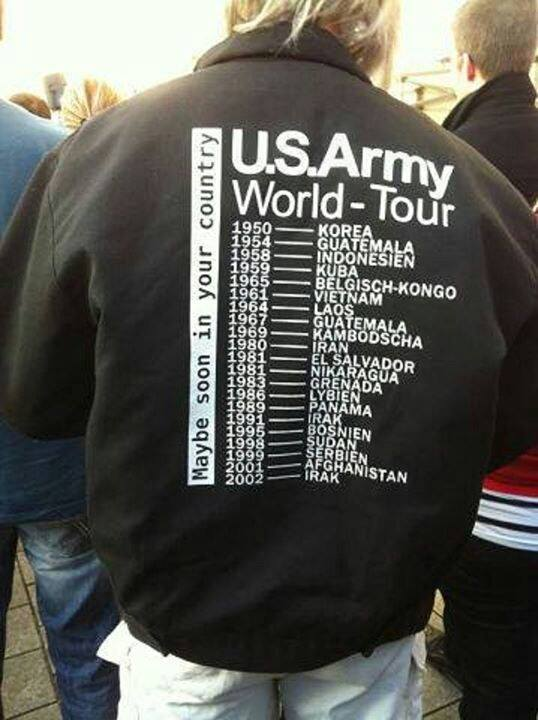US Army world tour as of 2002, maybe soon in your country