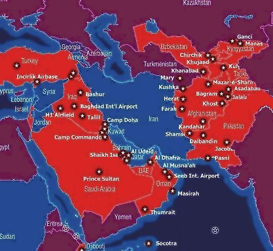 US bases in Mideast