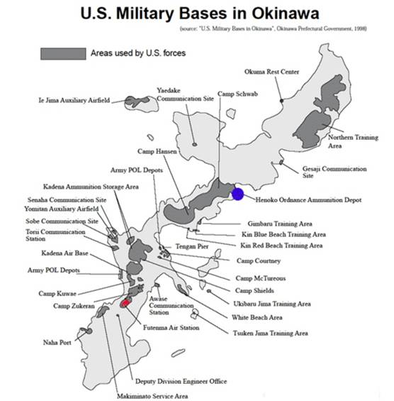 US military bases in Okinawa