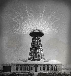 Nikola Tesla's laboratory and tower at Shoreham, NY