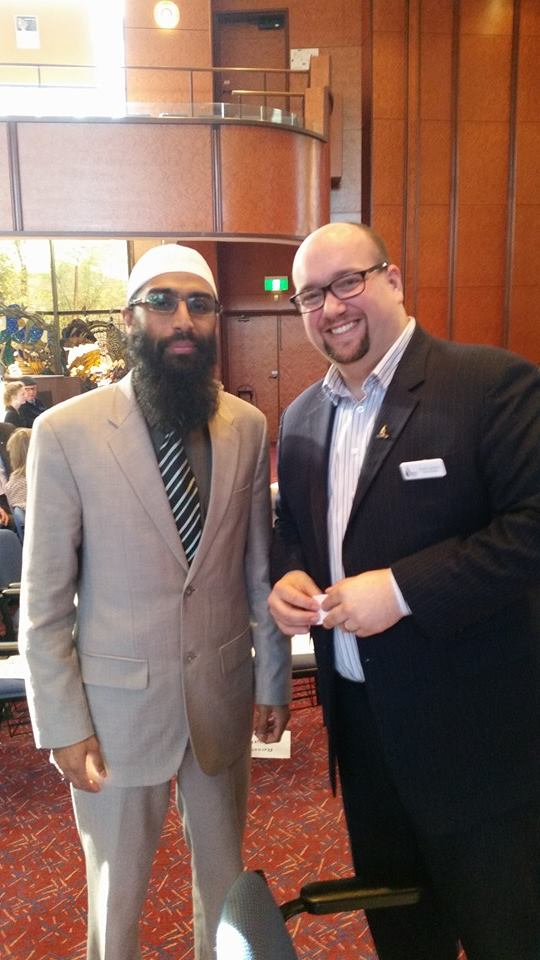 Waseem with Rabbi Gersh at TBI