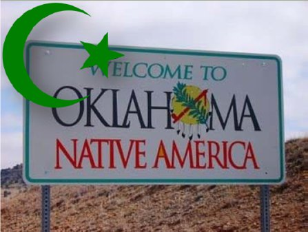 Welcome to Oklahoma Native America - with Muslim crescent