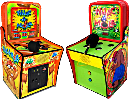 Whac-A-Mole game, arcade and home versions