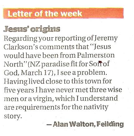 Why Jesus was not born in New Zealand