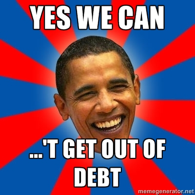 Yes We Can't Get Out Of Debt
