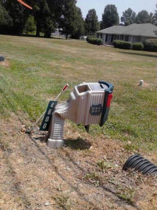 Plastic mailbox collapses from heat